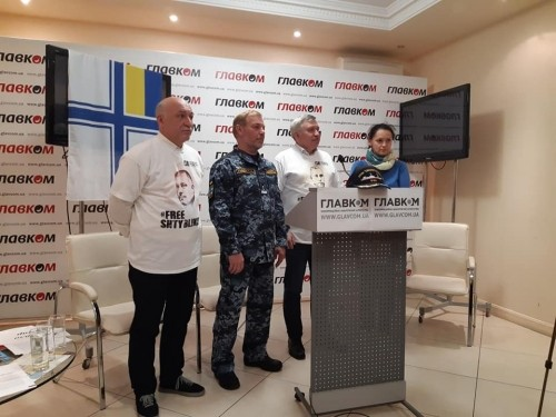 "Briefing ""The case of saboteurs: Three years later"" at the press center of IA Glavkom"